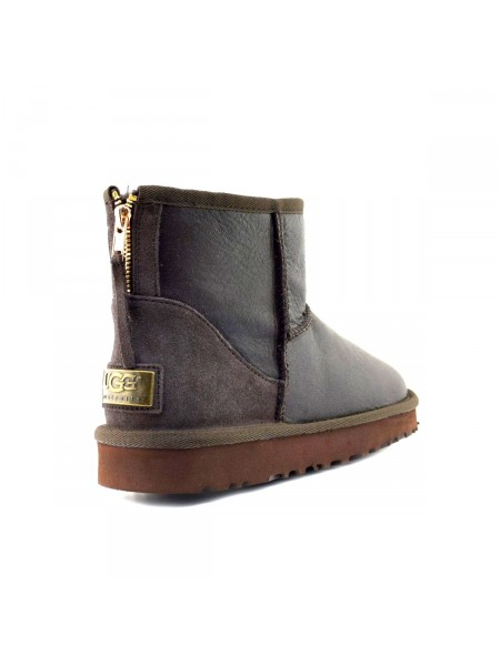 UGG Mens Zip Mini Metallic Chocolate