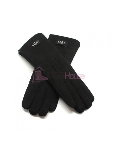 Женские удлиненные перчатки UGG Black - 1028