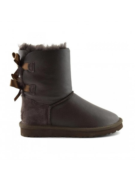 UGG Bailey Bow Kids Metallic Chocolate