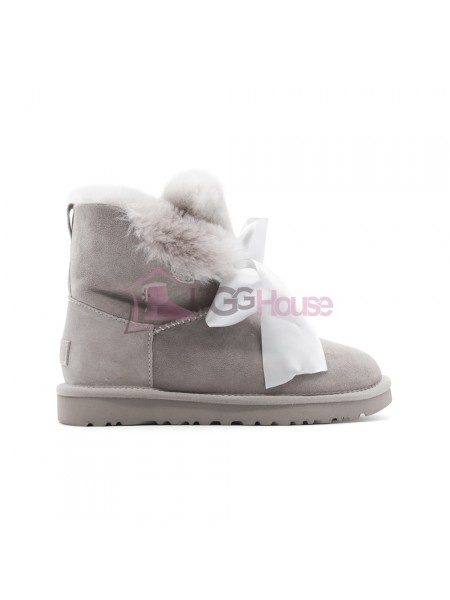 Угги UGG Gita Bow Mini - Seal серые