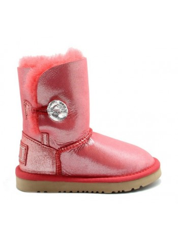 UGG Kids Bailey Bling Glitter Red