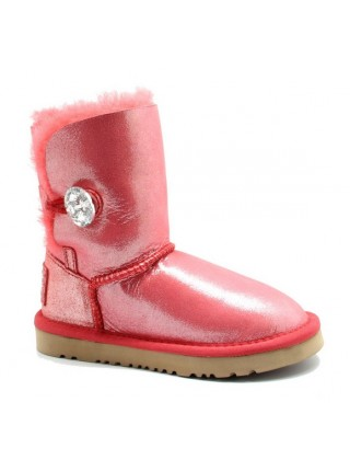 UGG Kids Bailey Bling Glitter Red Красные детские угги