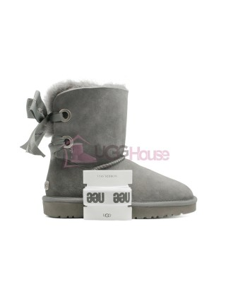 Угги UGG Bailey Bow Customizable - Seashell Charcoal