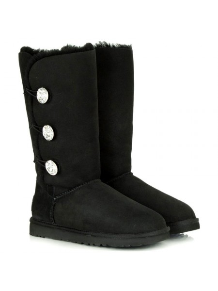 UGG Bailey Button Triplet Bling Black