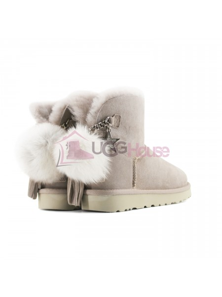Угги UGG Mini Charm Goat Ash Light Grey