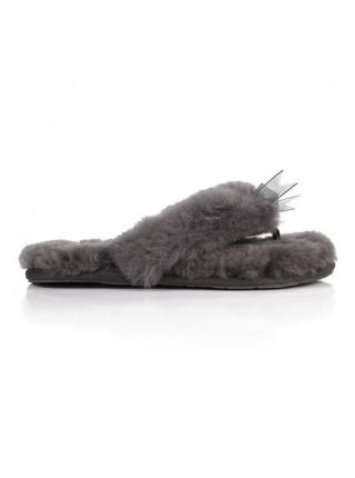UGG Fluff Flip Flop Grey Серые