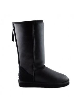 UGG Zip Tall Black Угги с молнией сзади высокие черные