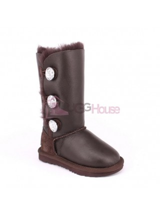 UGG Kids Bailey Bling Triplet Chocolate