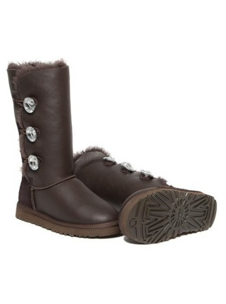 UGG Bailey Button Triplet Chocolate Metallic