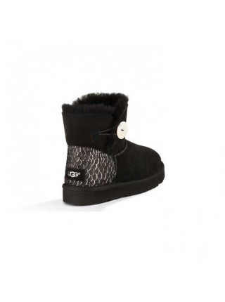 UGG Bailey Button Mini Perla Black