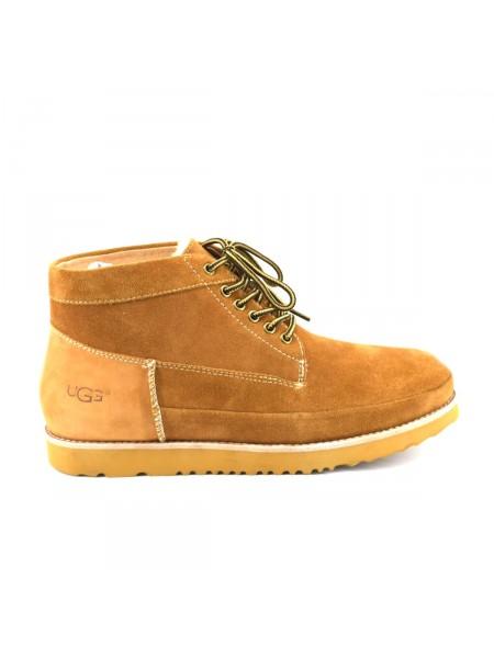 UGG Mens Bethany Chestnut II Мужские ботинки угги на шнурках рыжие