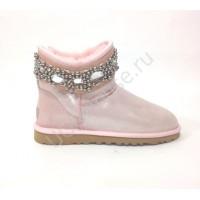UGG Jewelled Pink Розовые угги с камнями и бусами