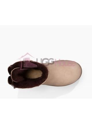 UGG Australia Naveah Mini Moonlight Угги с меховым бантиком сзади песочного цвета