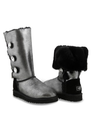 UGG Bailey Button Triplet Glitter Black