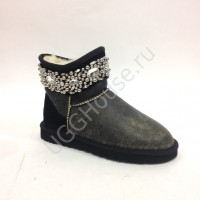 UGG Australia Mini Jewelled Black Bomber