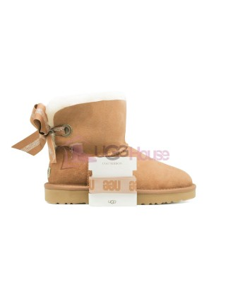 Угги Мини UGG Bailey Bow Customizable - Seashell Chestnut