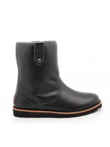 Мужские ботинки UGG Men's Stoneman TL - Black Кожаные