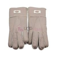 Мужские меховые перчатки Leather Capuccinno - 1007