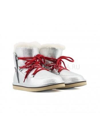 Женские Ботинки UGG Lodge Mini - Серебрянные.