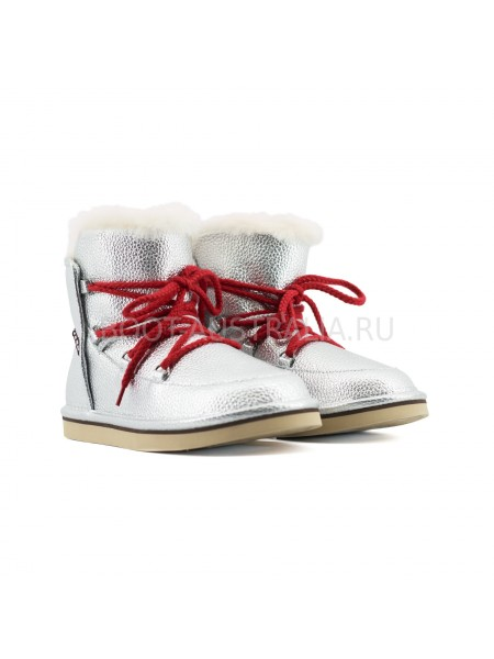 Женские Ботинки UGG Lodge Mini - Серебро