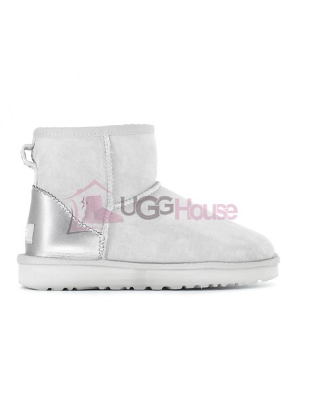 UGG Womens Classic Mini Metallic II Grey-Violet
