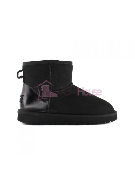 UGG Womens Classic Mini II Metallic Black