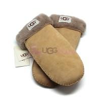 Женские варежки UGG Suede Sand-Grey - 1020