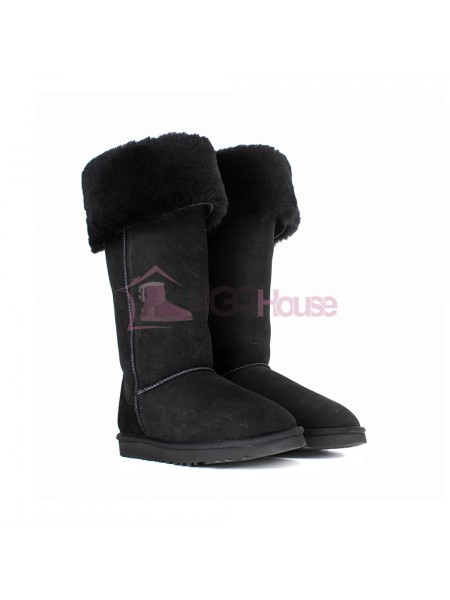 UGG Boots Over The Knee Bailey Button 2 Black