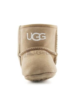 Пинетки для малышей на подошве UGG JESSE - Бежевые