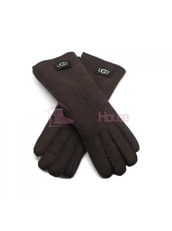 Женские удлиненные перчатки UGG Chocolate - 1027