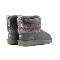 UGG Mini Fluff Quilted Boot - Grey