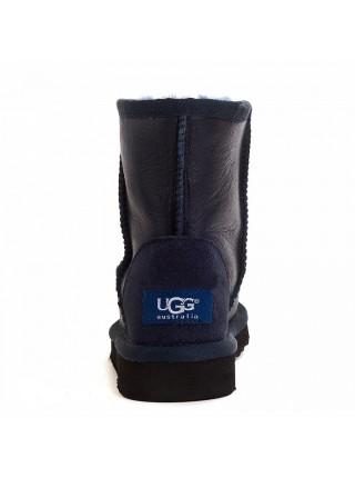 UGG Classic Short Kids Navy Угги детские Обливные синие