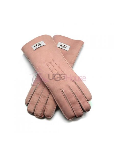 Женские удлиненные перчатки UGG Pink - 1030