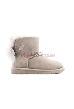 Угги UGG Fluff Bow Mini - WIillow