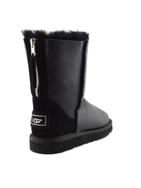 UGG Australia Short Zip Metallic Black