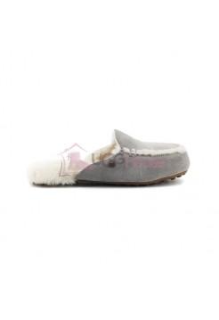 Меховые домашние тапочки Lane Slip On Loafer - Grey