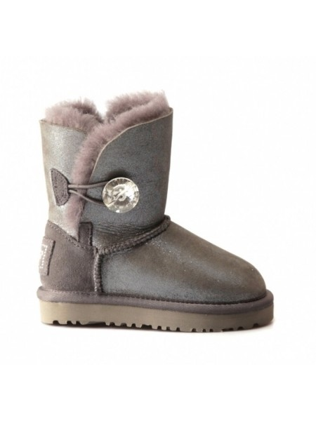 UGG Kids Bailey Bling Grey Glitter