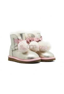 Угги Детские UGG Kids Gita Металлик - Розовые
