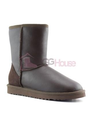 Угги классические мужские коричневые обливные UGG Classic Short Men's Chocolate Metallic
