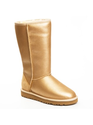 UGG Australia Classic Tall Metallic Soft Gold