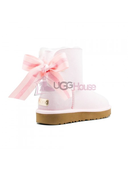 Угги Мини UGG Bailey Bow Customizable - Seashell Pink