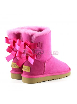 UGG Bailey Bow Kids Cerise
