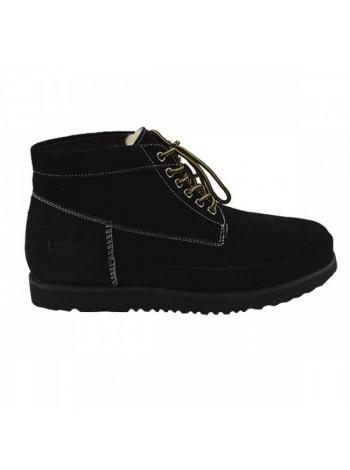 UGG Mens Bethany Black II Мужские ботинки угги на шнурках черные