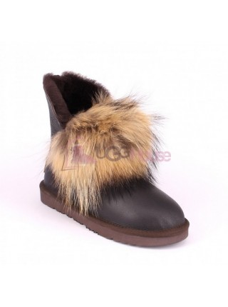 Ugg Fox Gen Metallic Chocolate