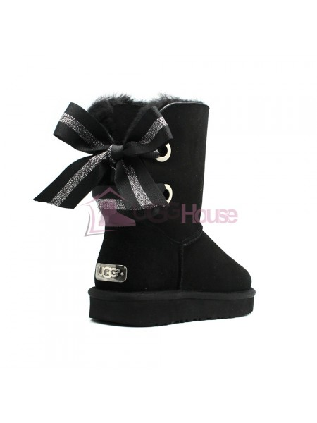 Угги UGG Bailey Bow Customizable - Seashell Black