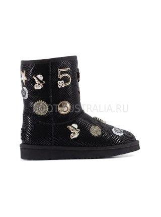 UGG & Jimmy Choo Coco Chanel 5 Black - Черные