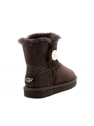 UGG Bailey Button Mini Perla Chocolate
