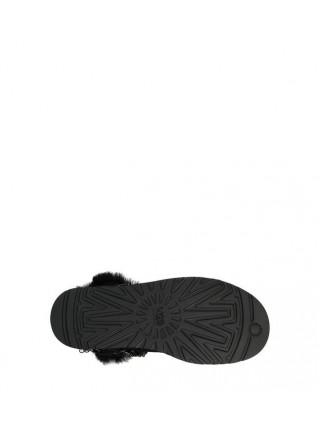 Угги мини Энвил с цепями и стразами черные UGG Australia Anvil Mini