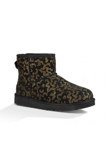 UGG Classic Mini Metallic Conifer Black