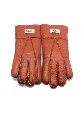 Мужские меховые перчатки Chestnut Leather - 1004